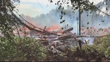 Emergency crews respond to brush fire in Blount Co.