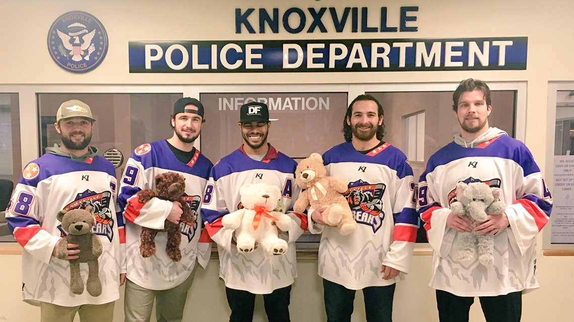 'Now that's a win-win': Ice Bears gift teddy bears to KPD to give out to children
