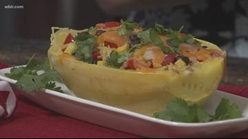 In the kitchen: Spaghetti Squash Burrito Bowl