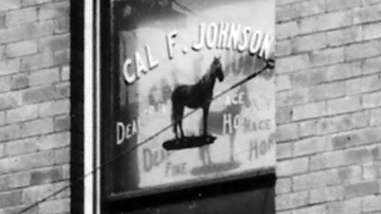 Cal Johnson Dealer of Fine Race Horses Window