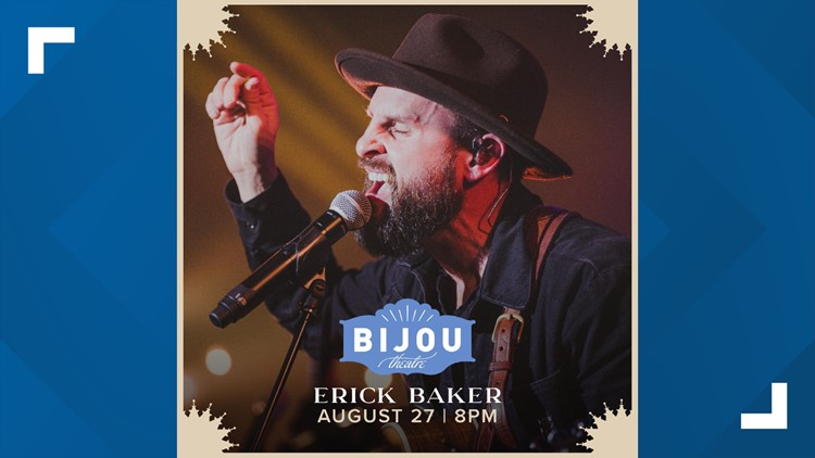 Erick Baker to return to Knoxville for performance at Bijou Theatre on August 27