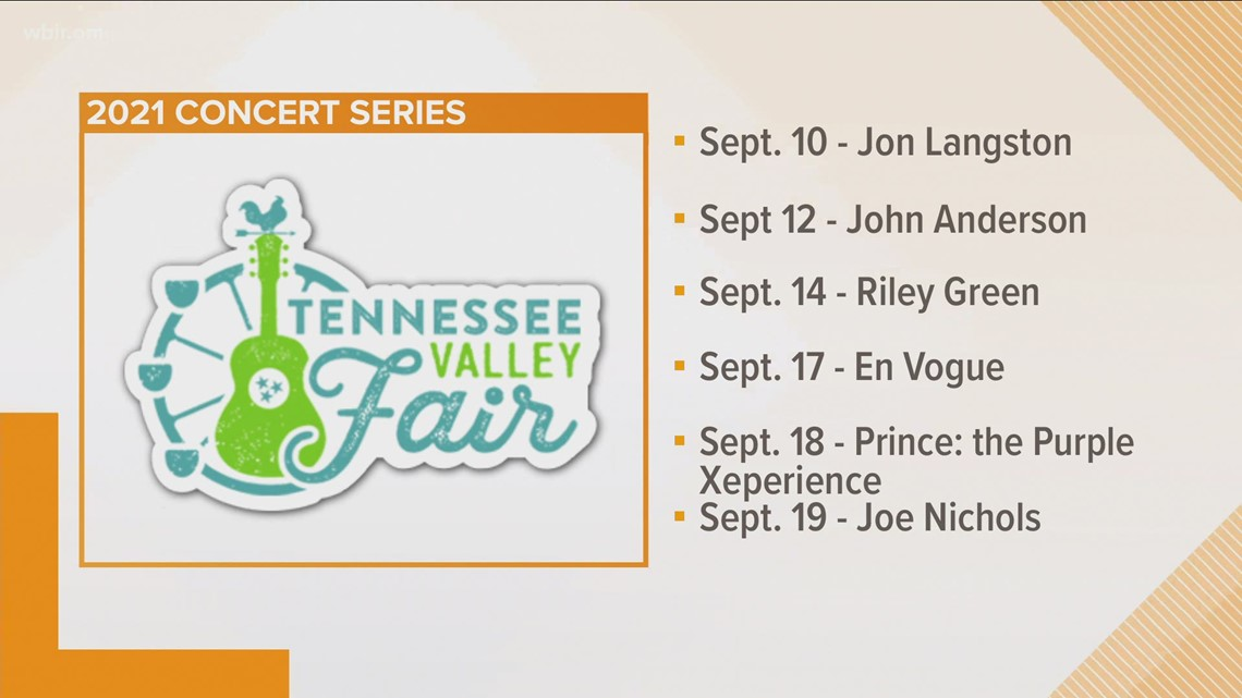 Tennessee Valley Fair announces 1st round of its concert series