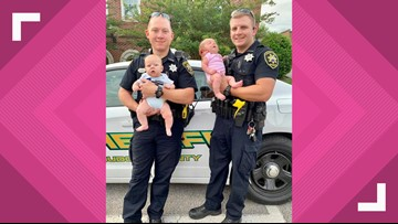 Double trouble! Loudon County Sheriff's deputies welcome two baby girls