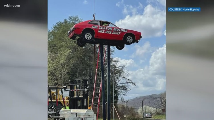 'Pinto on a pole' taken down in Union County