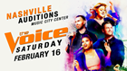 'The Voice' to hold auditions in Nashville on Feb. 16
