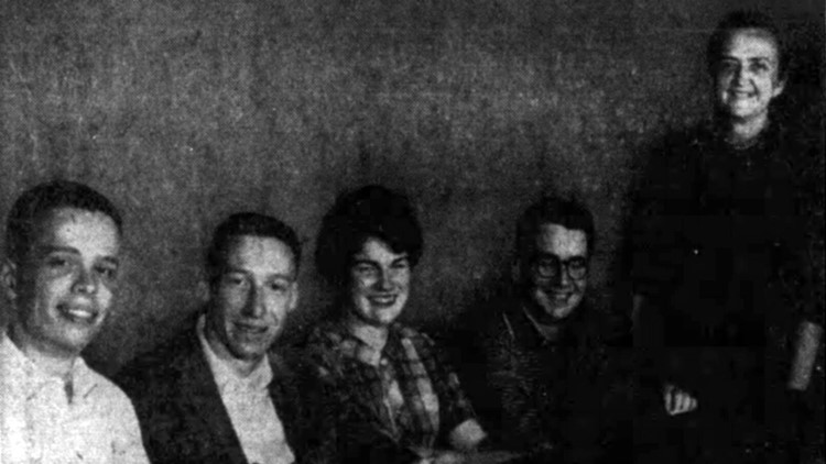 1962 UT College Bowl quiz team Dr Isabel Tipton Coach University of Tennessee