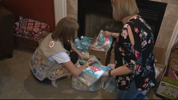 Girl Scout making special blankets to help foster kids with anxiety in East Tennessee