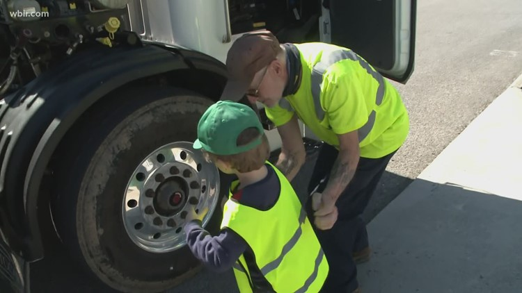 Waste management employee treasures friendship with young boy