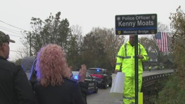 Bridge dedicated to fallen Maryville police officer Kenny Moats