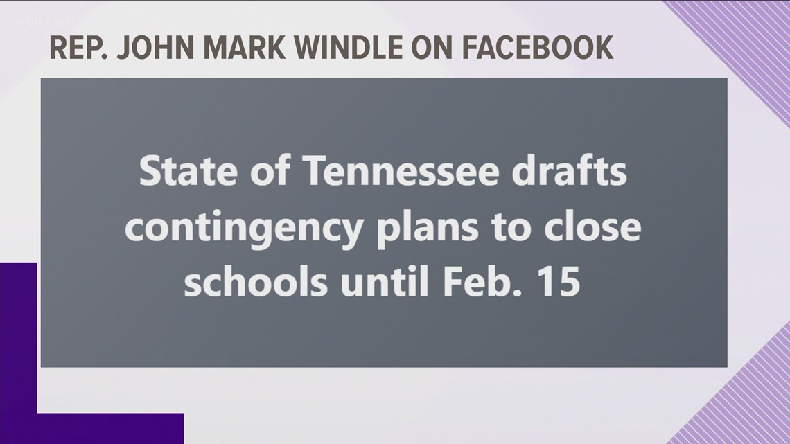 10Listens: Tennessee is not working on a plan to close schools until February