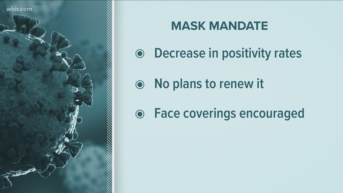 Sevier County mask mandate expires Thursday night