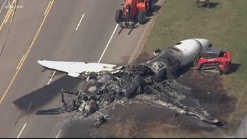State Route 91 reopens after plane crash