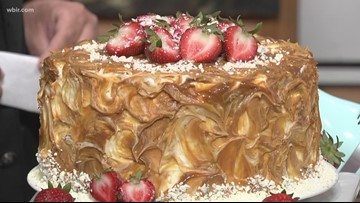 Sweet Treat: Strawberry & Carmel Cake