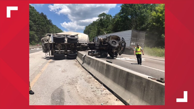 I-75 North in Campbell County reopens after cement truck overturned