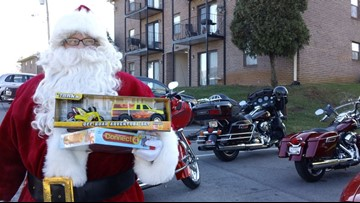 Knoxville Harley group revvs up Santa's sleigh to bring presents to children