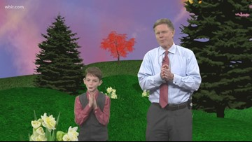 Todd's 'Mini-Me' helps him with weather