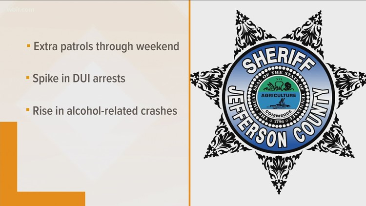 Jefferson County to have extra patrols over holiday weekend