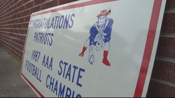Jefferson County alums upset over proposed field change removing 'snapping patriot' mascot