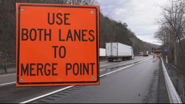 Merge now or later? I-40 lane closures delay traffic at TN/NC line
