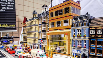 Adults and children alike prepare for Knoxville LEGO Convention