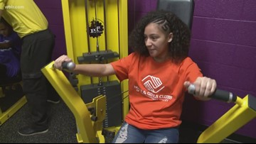 Get moving! Knoxville students workout in middle school's new mini Judgement Free Zone fitness center
