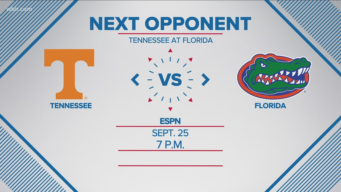 Vols to face Florida at 7 p.m. in Gainesville on Sept. 25