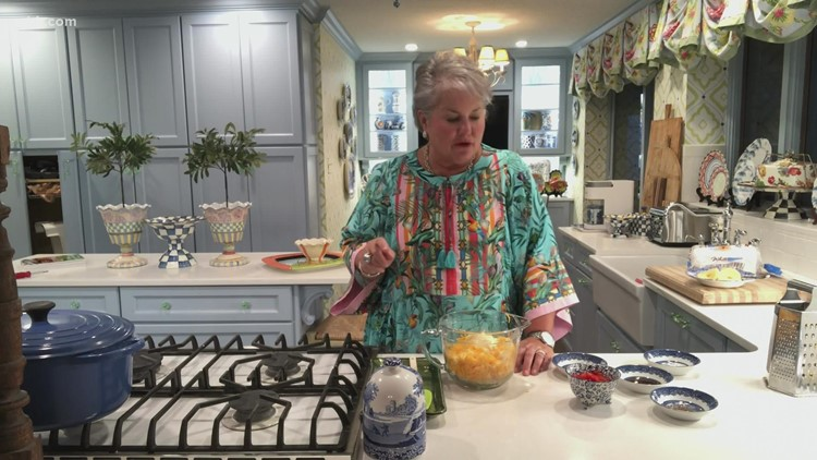 Joy's pimento cheese and pineapple sandwiche