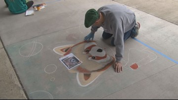 Oak Ridge Rotary Club and Roane State host street painting festival, raises funds for scholarships