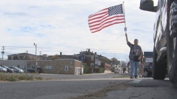 Crossville man honoring fallen soldiers through daily walks with American flag