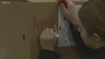 East Tennessee Service members wrap presents for kids who lost military parents