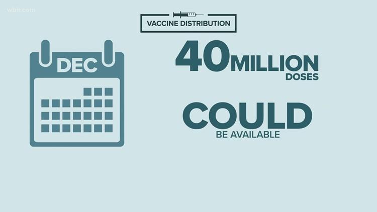 Possible COVID-19 vaccine distribution timeline