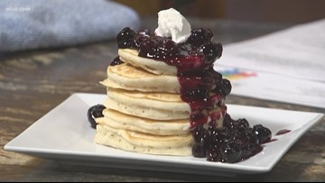In the kitchen: Ricotta pancakes with blueberry-lemon compote