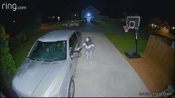 Security cameras capture armed man attempting to break in to cars in Karns