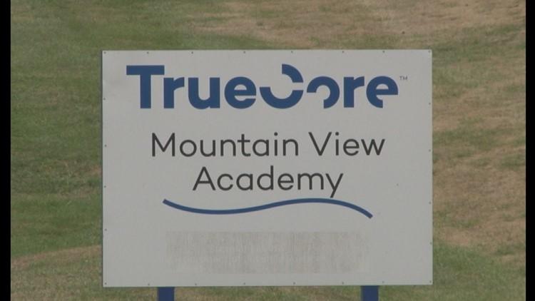 A TrueCore sign outside Mountain View Academy
