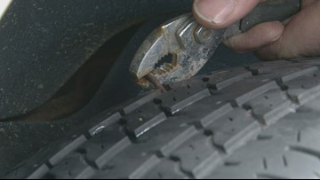 Could more rain mean more nails in your tires? Mechanics say yes