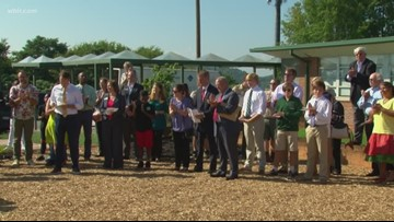 Green Magnet Academy cut ribbon on new outdoor classroom