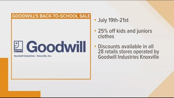 Goodwill Back-to-School sale starts tomorrow
