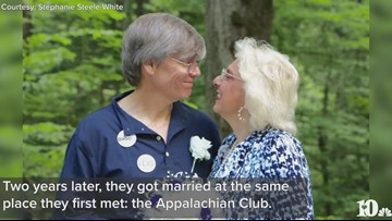 TN couple gets married at same Smokies spot they met