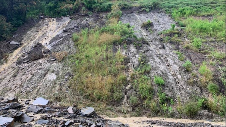 Campbell County rockslide