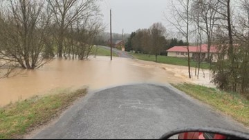 Neighbors looking for answers after flooding takes over road and yards in Cocke County