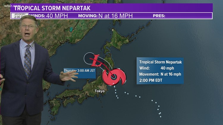 Tropical Storm Nepartak skirts around Tokyo, Olympic weather should improve in coming days