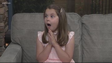 Junior Anchor Ella Wilson is a natural on television