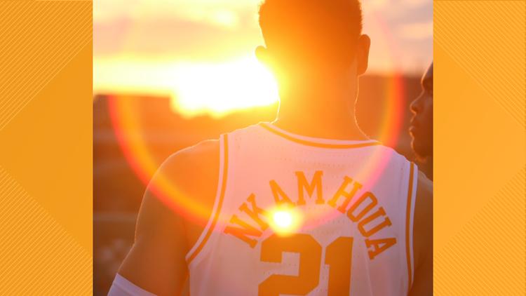 Big Orange Sunset Vols Basketball Nkamhoua