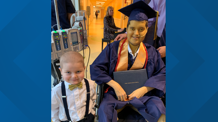 Noah and Isaac on Graduation Day