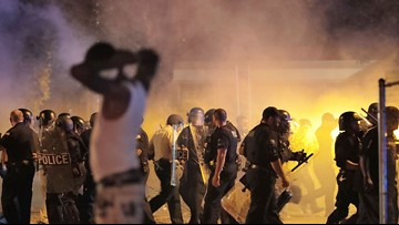 Police, angry crowd face off after shooting in Memphis