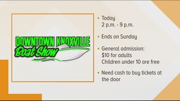 Downtown Knoxville Boat show this weekend