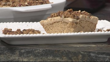 In the kitchen: Caramel praline sheet cake