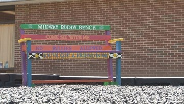 'You've got a friend in me' || Elementary school's buddy bench encourages kindness and inclusion