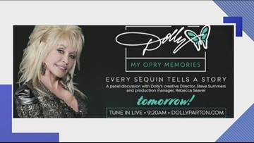 Dolly Parton to premiere a special behind-the-scenes look at her Opry exhibit Friday morning
