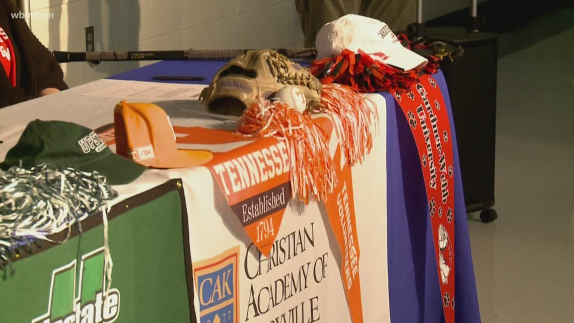Local high school athletes sign with various college programs